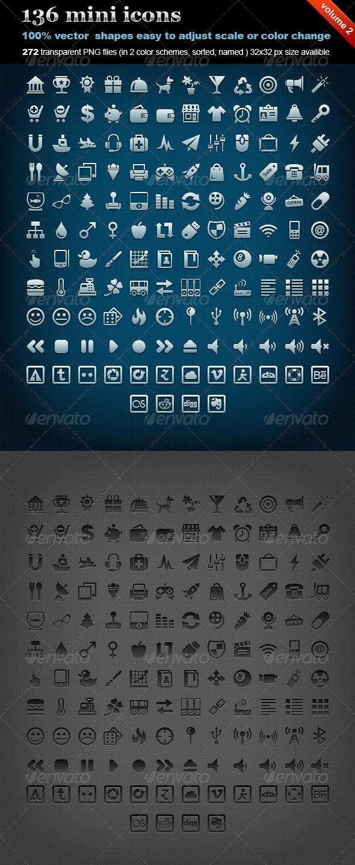 136 mini icons (volume 2) - Web Icons