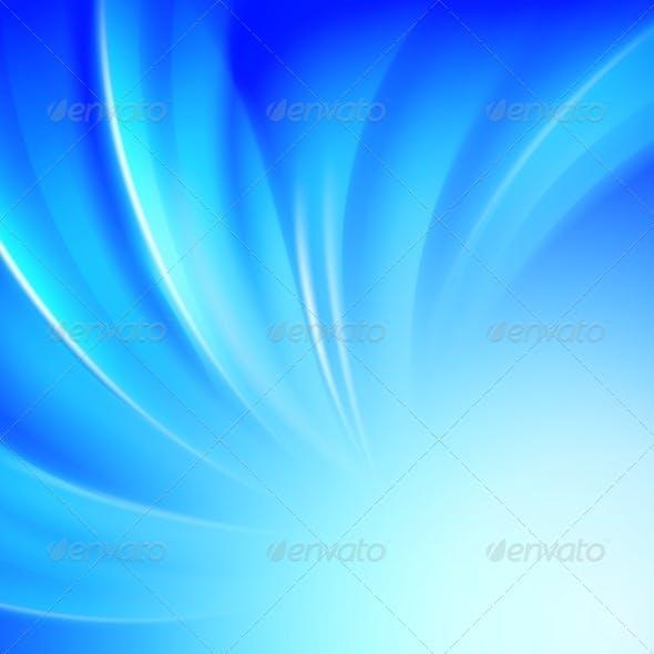 Blue Luminous Waves