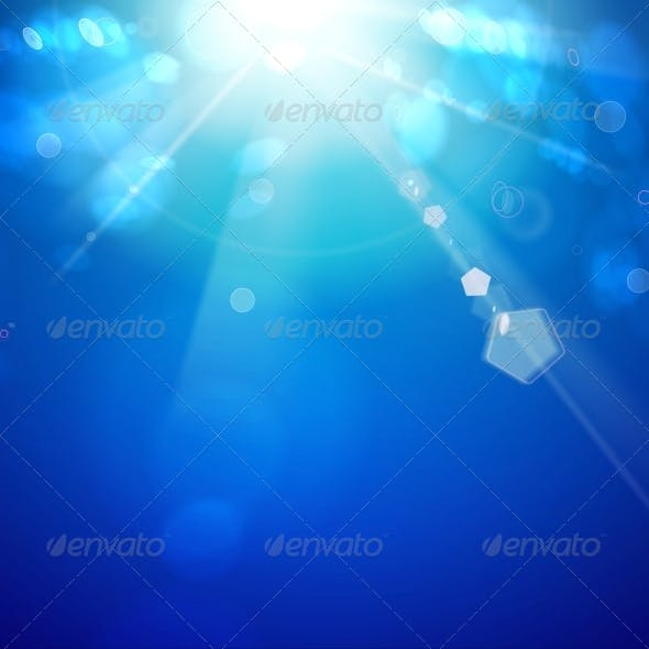 Sun Shine Rays with Bokeh