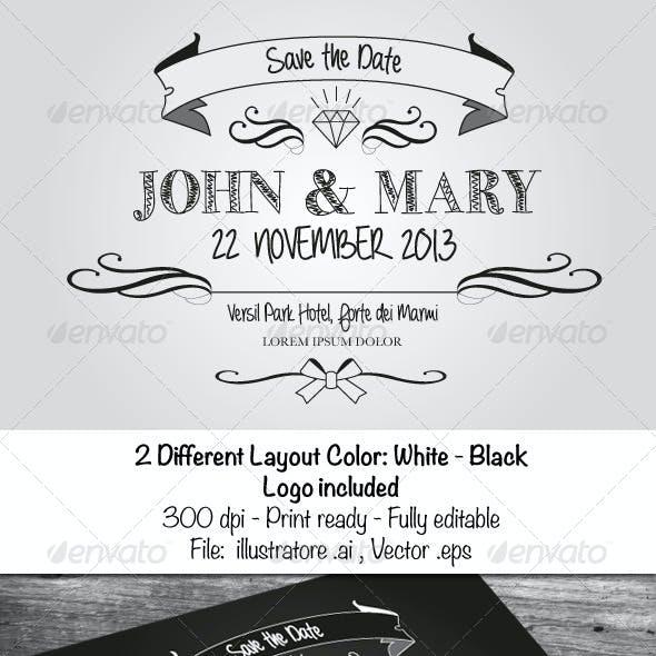 Black & White Wedding Cards