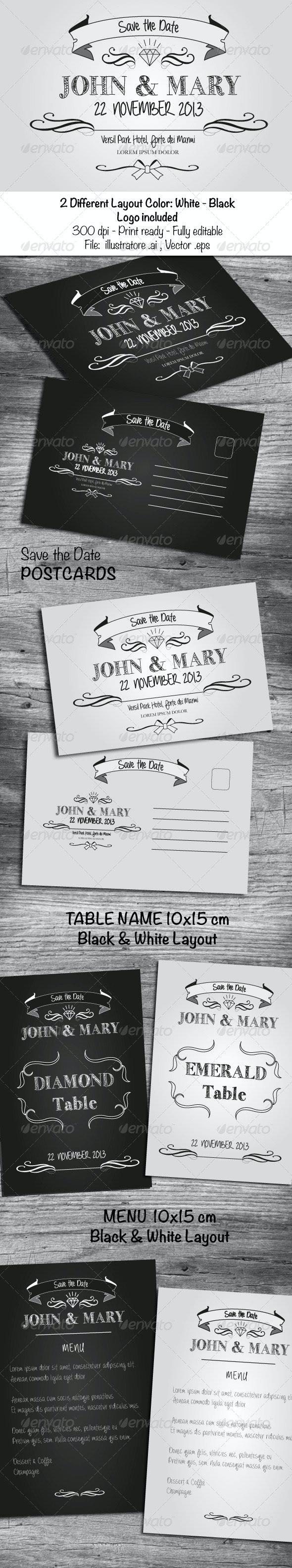 Black & White Wedding Cards - Cards & Invites Print Templates