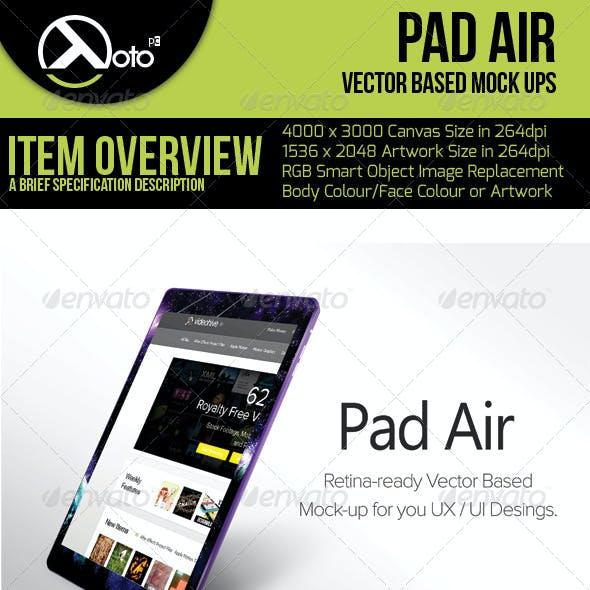 Pad Air Vector Based Mock-up