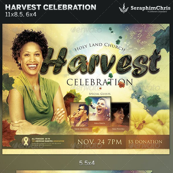 Harvest Celebration: Church Flyer Template
