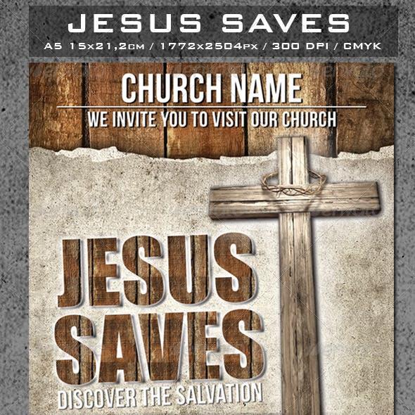 Jesus Saves Flyer Template
