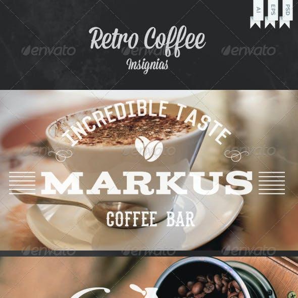 Retro Coffee Insignias