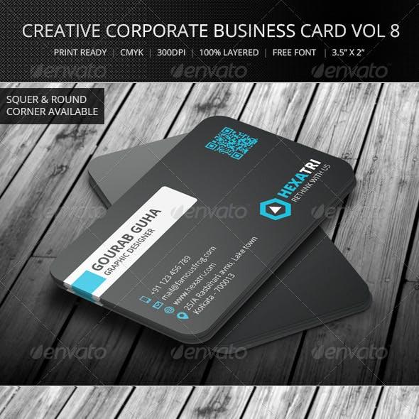 Creative Corporate Business Card Vol 8