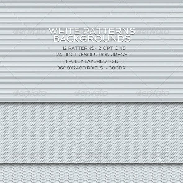 White Pattern Backgrounds
