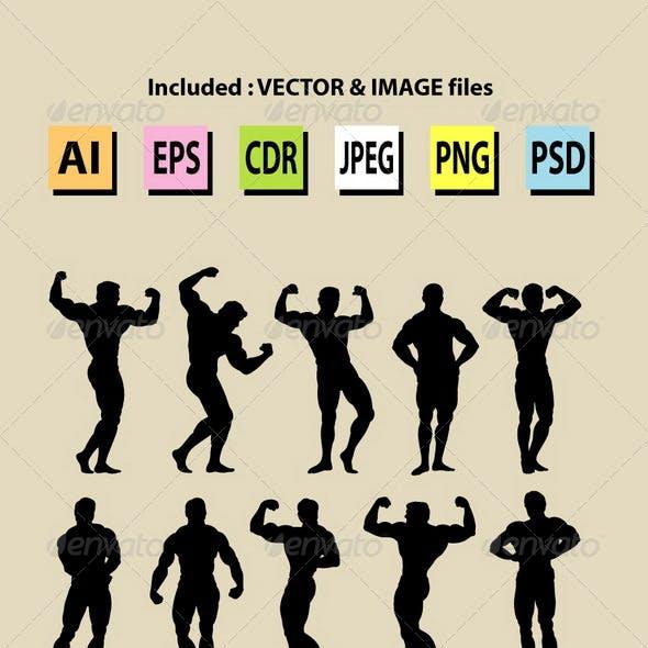Bodybuilding Silhouettes