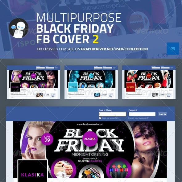 Multipurpose Black Friday Facebook Cover 2
