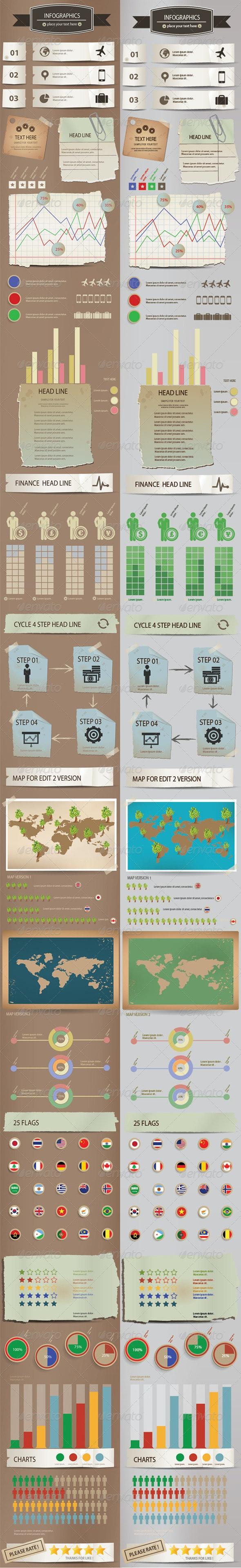 Vintage Infographics Design - Infographics