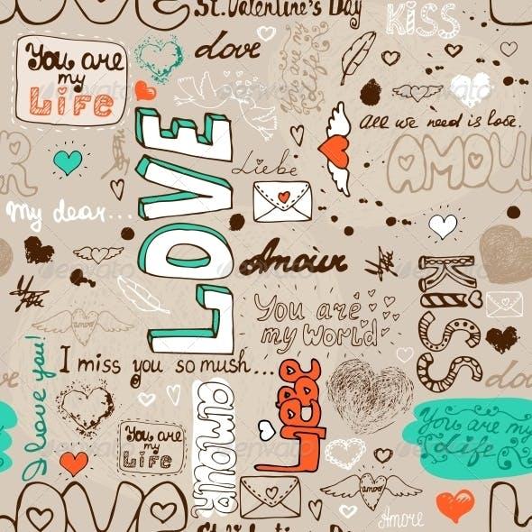 Seamless Love Letter Pattern