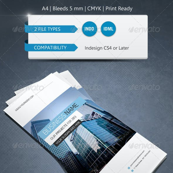 Corporate Indesign Trifold Brochure Template