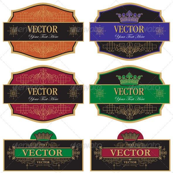 Set vector vintage labels