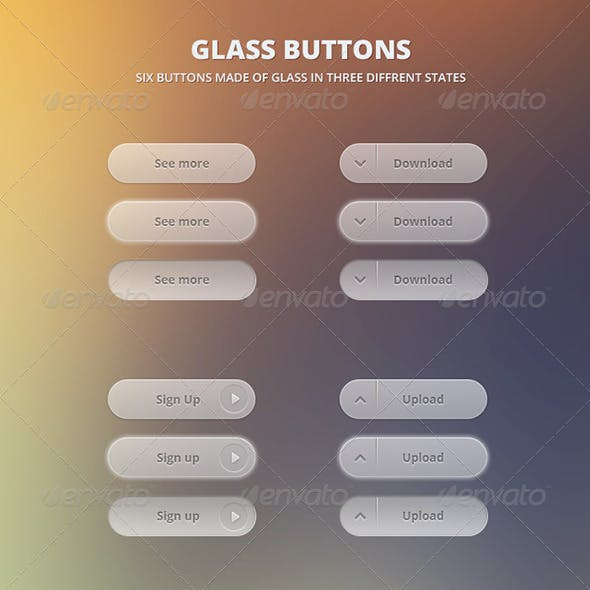 6 Glass Buttons