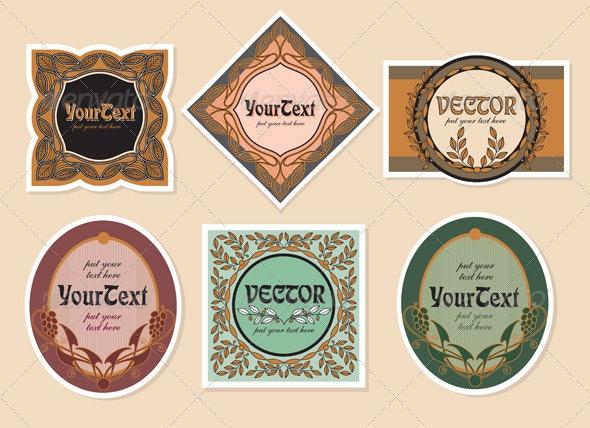 Set vector vintage labels - Decorative Vectors