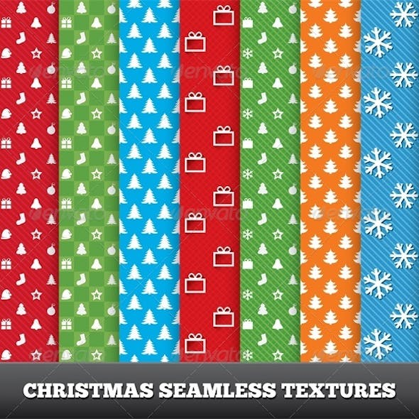 Merry Christmas Vector Seamless Patterns