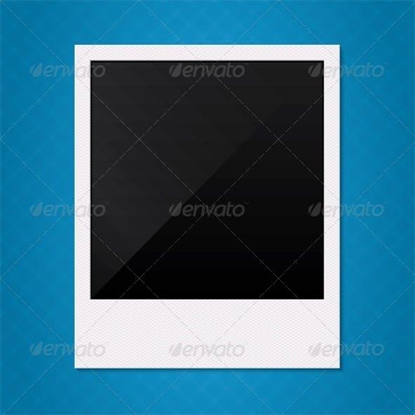 Blank Retro Polaroid Photo Frame