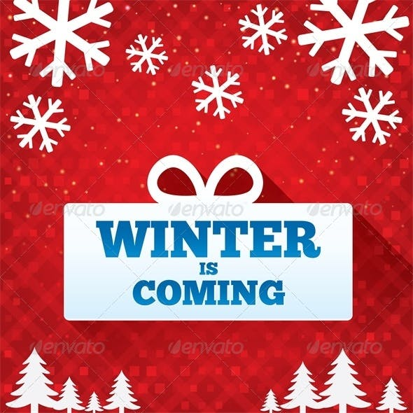 Winter is Coming Sale Background