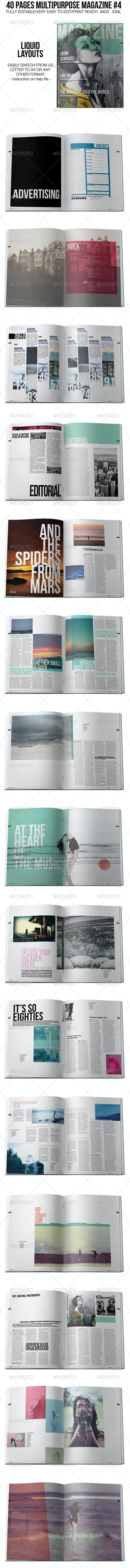40 Pages Multipurpose Magazine 4 - Magazines Print Templates