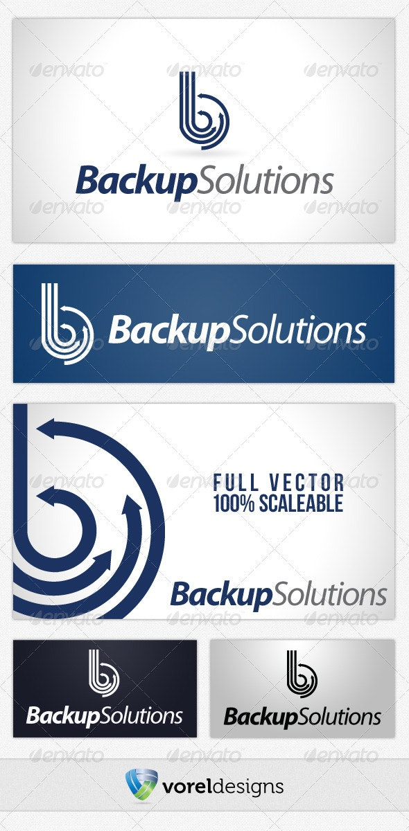 Backup Solutions - Abstract Logo Templates