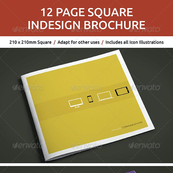 12 Page Square InDesign Brochure