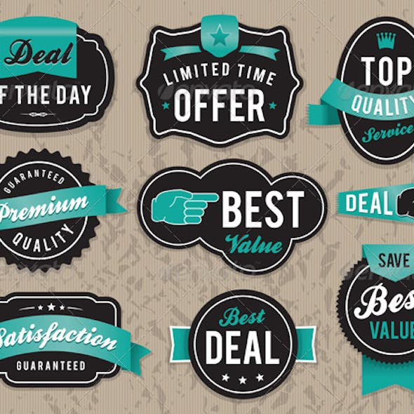 Vector Retro Business Labels and Badges