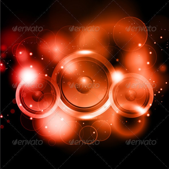 Abstract music speakers background - Backgrounds Decorative