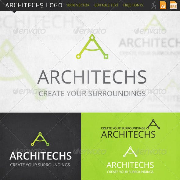 Architechs Letter A Logo Template