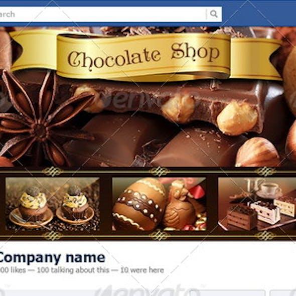 Chocolate Shop Facebook Timeline