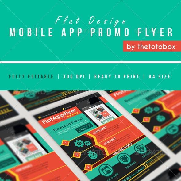 Flat Mobile App Promo Flyer