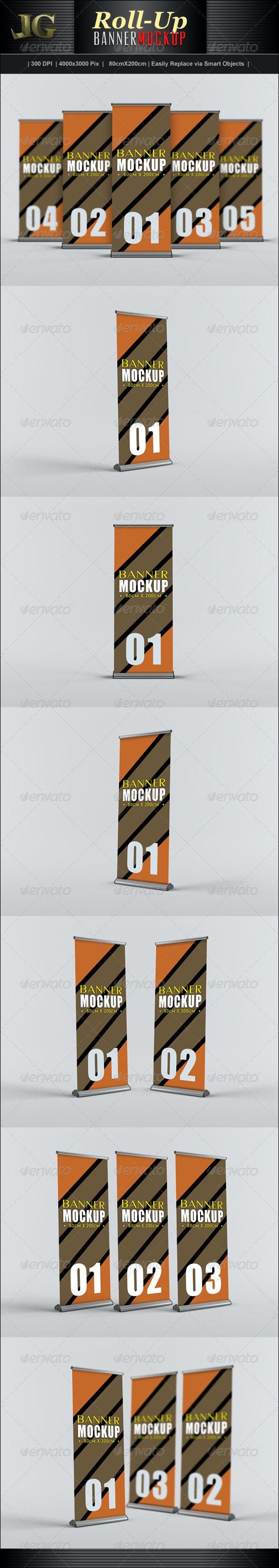 Roll-Up Banner Mockup - Signage Print