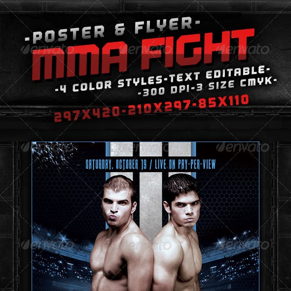 MMA Fight Poster