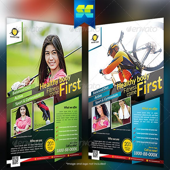 Modern Fitness & Sport Flyer / Magazine Ads