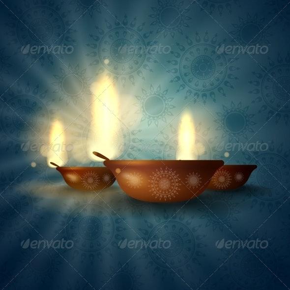 Happy Diwali Festival. - Religion Conceptual