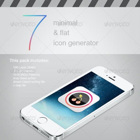 Minimal & Flat Modern Icon Generator