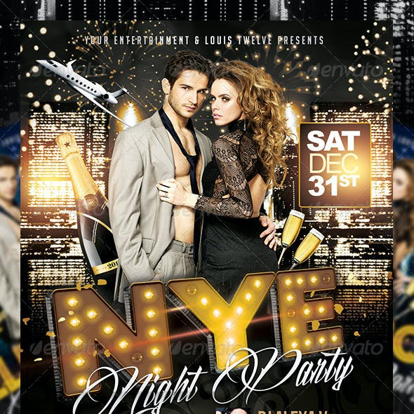 New Year Eve or Elegance Party | Flyer + FB Cover