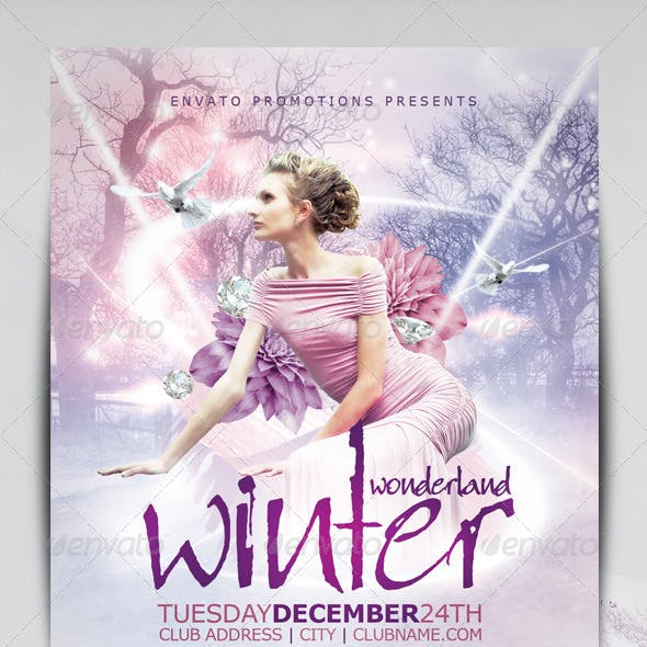 Winter Wonderland Christmas Flyer Template