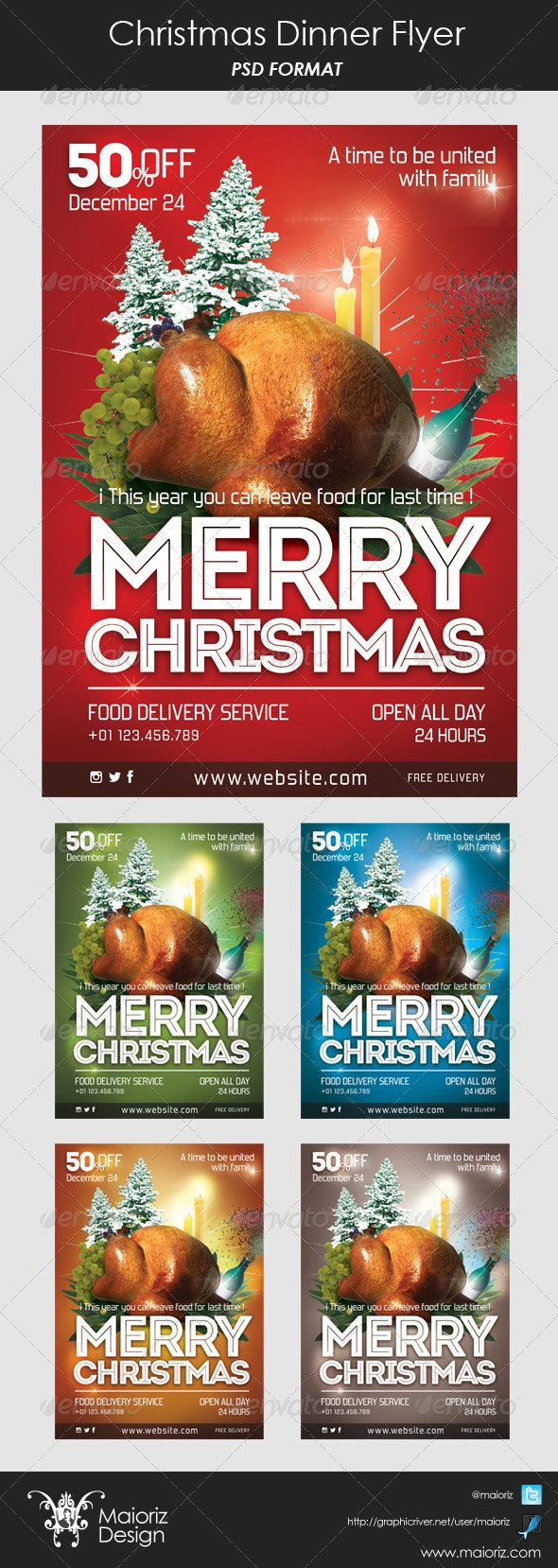 Christmas Dinner Flyer - Holidays Events
