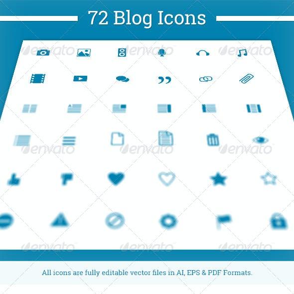 72 Blog Icons