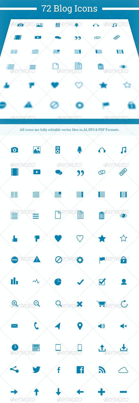 72 Blog Icons - Web Icons
