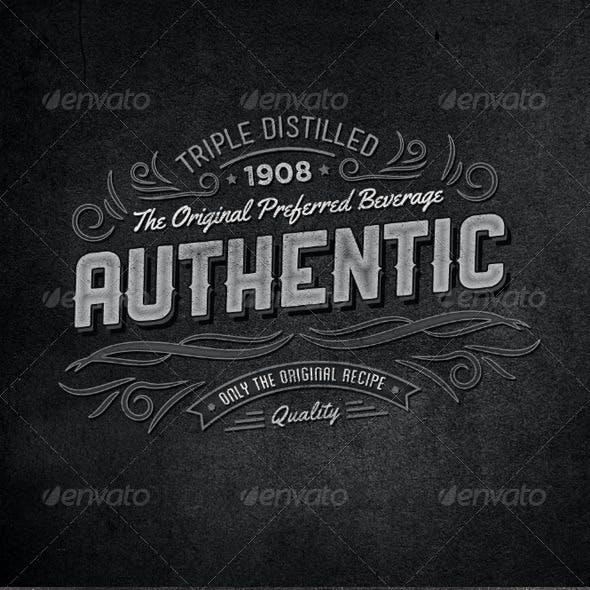 Retro Typographic Insignia and Badges Vol 2