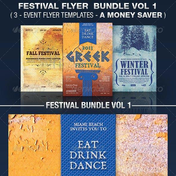 Festival Flyer Templates Bundle Vol 1