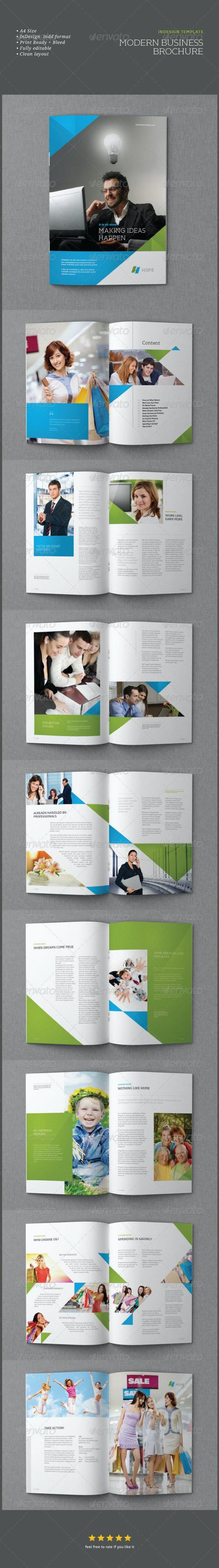 InDesign Modern Business Brochure Template - Corporate Brochures