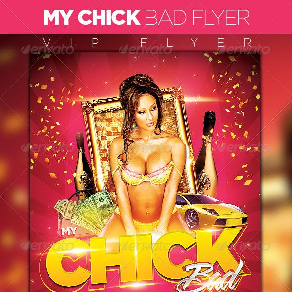 My Chick Bad Party Flyer