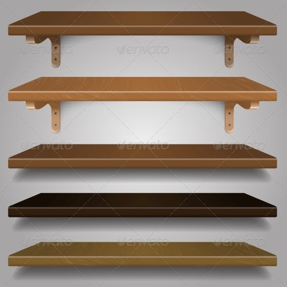 Vector - Wood Shelves