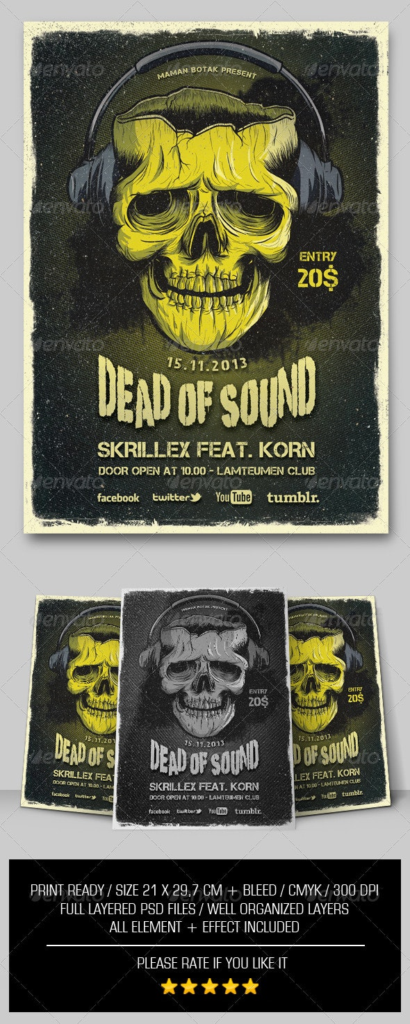 Dead of Sound Flyer/Poster - Events Flyers