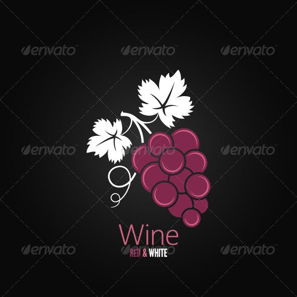Wine Grapes Design Background