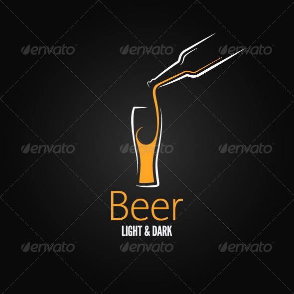 Beer Glass Design Menu Background