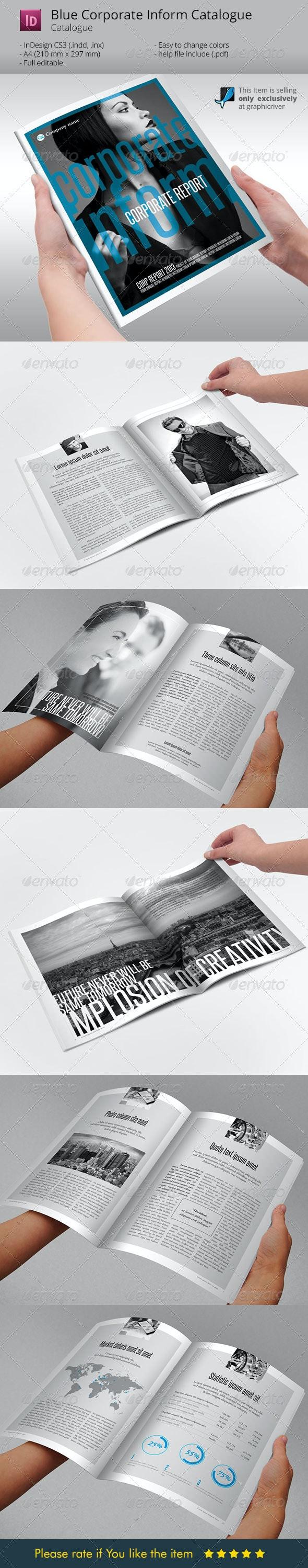 Blue Corporate Inform Indesign Template - Corporate Brochures