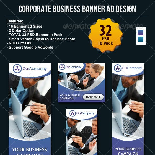Corporate Business Banner ad Design Set